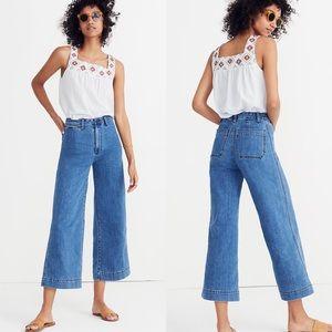 Madewell Emmitt High Waist Crop Wide Leg Jean NWOT